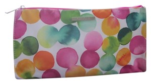 Clinique New Clinique Cosmetic Makeup Bag Purse Pink Watercolor Bubble Print 10