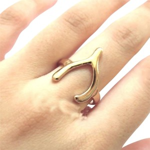 Other Gold Wishbone Ring Size 7