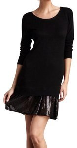 Romeo & Juliet Couture short dress Black Sequin Ruffle Sweater on Tradesy