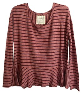 Free People Long Sleeve .dark Roomy Bottom Cute For Casual Or Dress New Never Worn Purchased At Nordstrom Very Soft And Top listed as sedona red - more like a light maroon/dark maroon stripes