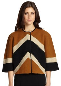 Burberry Prorsum Wool Coat Toffee Black Jacket
