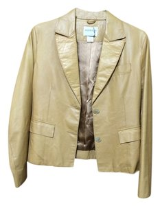 Hugo Buscati Leather Butterscotch Jacket Coat Jeans Tan Two Button Lined Luggage Suit Suede Camel Blazer
