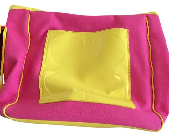 Not Rated Tote in HOT PINK AND NEON YELLOW
