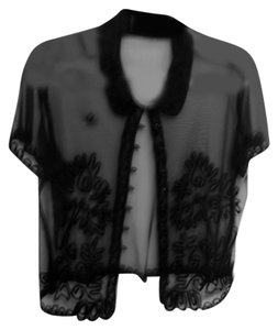 Provacative Sheer Top Black