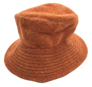 Hermès Hermes Motsch Orange Wool Hat 56