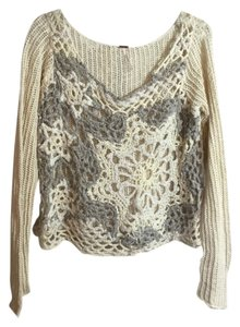 Free People In Ivory Sweater