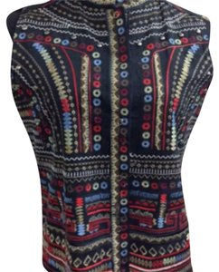 Chicos vest Chico's Embroidered Studded Vest