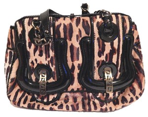 Fendi Leopard B Ponyhair Shoulder Bag