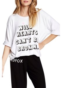 Wildfox Oversized Graphic Cute Wild Hearts Sweater