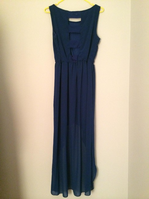 Other High-low Open Back Blue Hi Lo Summer Dress