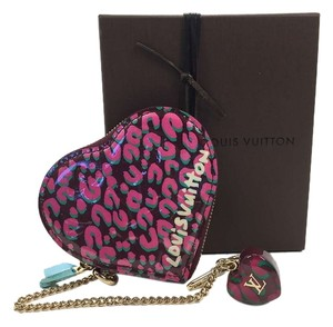 Louis Vuitton Louis Vuitton Vernis Leopard Heart Coin Case NEW