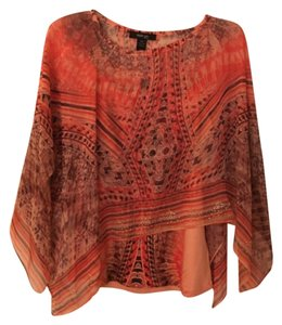 Style & Co Top Soft Orange print