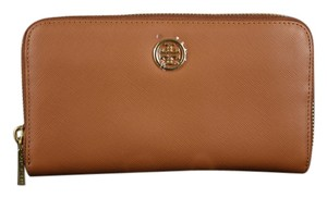 Tory Burch Tory Burch Brown Robinson Zip Continental Wallet