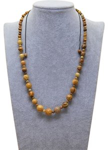 Naturalizer Handmade Genuine Jasper Gemstone Necklace