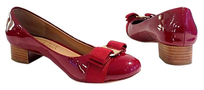 Item - Red Varina Patent Flats Size US 6 Regular (M, B)