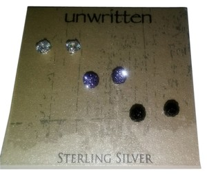 Unwritten New Trio Pave crystal stud earrings by Unwritten.