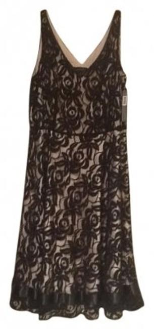 Preload https://item3.tradesy.com/images/elie-tahari-black-and-nude-with-overlay-above-knee-cocktail-dress-size-12-l-9812-0-0.jpg?width=400&height=650
