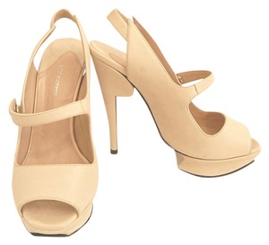 Nicholas Kirkwood Mary Janes Slingbacks Leather Cream Sandals