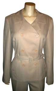 Giorgio Sant'Angelo GIORGIO SANT ANGELO PANTS BUSINESS SUIT SIZE 10 BEIGE LIGHT TAN BLAZER P614