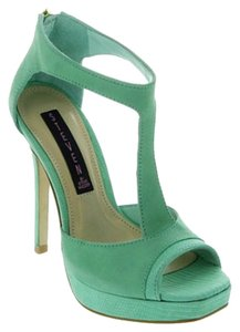 Steven by Steve Madden Kaciee Tstrap T-strap Platform New Mint Green Pumps