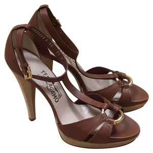 Salvatore Ferragamo Brown Platforms