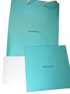 Tiffany & Co. 5pc Tiffany & Co Gift Set 6x6 Box Ribbon Card Bag Tissue Paper