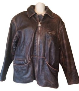 Winlet Motorcycle Biker Leather Vintage Victoria Motorcycle Jacket