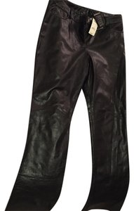 Express Leather New Boot Cut Pants Black
