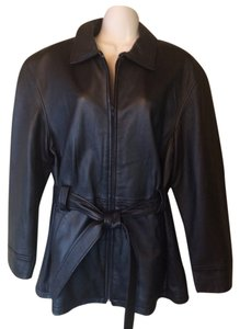 Sonoma Lambskin Leather black Leather Jacket