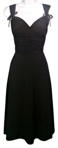 AA Studio Shirred Ruched Surplice Below Knee Length A-line Skirt Flowing Skirt Matte Jersey Stretch Dress