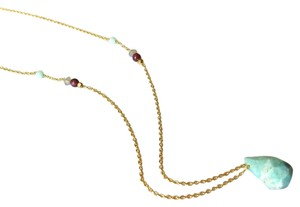 Elliot Francis gold piet stone necklace