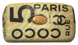 Chanel Rare Chanel Coco Rue Cambon Paris 31 No 5 Resin Ring Statement Chunky Logo Ring
