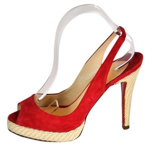 Christian Louboutin Suede Red Sandals