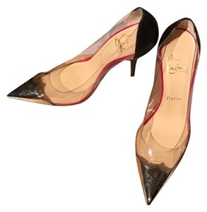 Christian Louboutin Transparent, silver, black Pumps