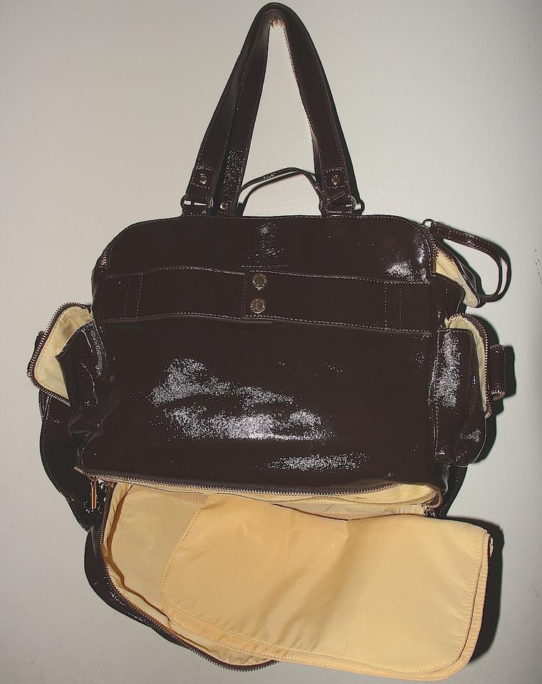Ble Collection Leather Large Honey Brown With 18k Gold Plated Hardware Diaper Bag 123456789101112