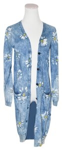 Dolce&Gabbana Camomile White Flower Floral Print Button Down Small Cardigan
