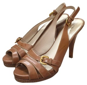 Prada Tan Platforms