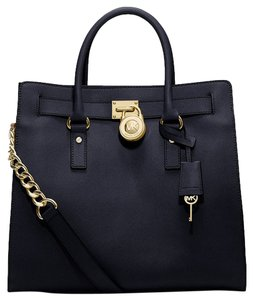 Michael Kors Saffiano Leather Tote in Navy