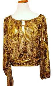 BCBGMAXAZRIA Top Gold