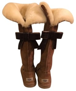 UGG Australia Boot Suede Leather Sheepskin Chestnut Boots