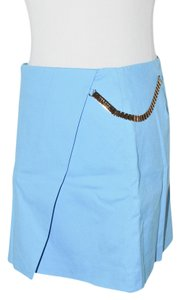 Versus Versace Versace Versus Gold Chaind Women Mini Size Small It 38 Us2 Skirt BLUE