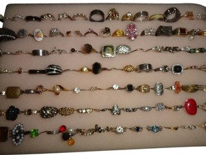 Huge lot of 50 vintage rings all are wearable and resellable