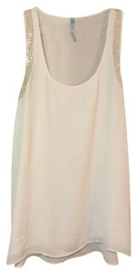 Francesca's Simple Tanktop Flowy Top white