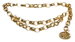 Chanel Chanel Gold Chain Link Medallion Belt