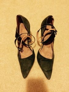Ted Baker Olive Green (suade & crocodile) Pumps