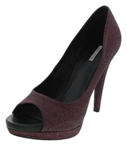 Vera Wang Glitter Open Toe Purple Pumps