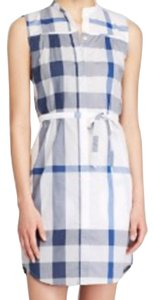 Burberry short dress Blue (Multi) on Tradesy