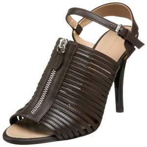 Proenza Schouler Zip Front Leather Brown/Moro Sandals