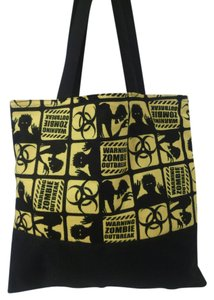 Purses Zoombie Outbreak Tote in Black / Yellow