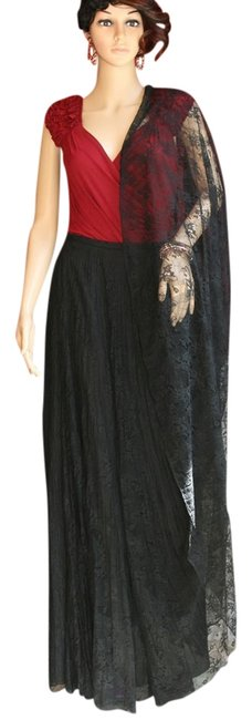 Preload https://item4.tradesy.com/images/kay-unger-black-lace-ballgown-skirt-size-4-s-27-981798-0-0.jpg?width=400&height=650